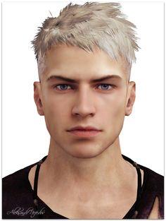 DmC Devil may cry - Dante by aleksandernef on DeviantArt Dmc Dante, Nero Dmc, The Sims 4 Skin, Vampire Masquerade, Dante Devil May Cry, Dmc 5, Model Face, Bad Boys, Beautiful Men