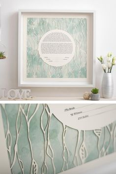 This Ketubah is a gorgeous composition, it is made of high quality paper and the result is a fine art piece. It is a Papercut Ketubah with a digital giclée print, having a modern design. This ketubah is unique and it will impress all the guests. ♥♥♥ DIMENSIONS: ★ 15 x 15 inches (38.1 x 38.1 cm) ★ 18 x 18 inches (45.7 x 45.7 cm) ★ 20 x 20 inches (50.8 x 50.8 cm) ★ 22 x 22 inches (55.8 x 55.8 cm) ★ 24 x 24 inches (60.9 x 60.9 cm) Wedding Crafts, Diy Wedding, Wedding Ideas, Spring Wedding, Elope Wedding, Wedding Vows, Elopement Wedding, Botanical Wedding Theme, Modern Tropical