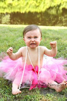 baby girl crying tears tutu pearls on-location photography portrait picture photo one year old