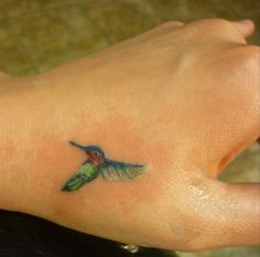 tiny hummingbird tattoo- Artist at 'til Death tattoo in Portland, Maine