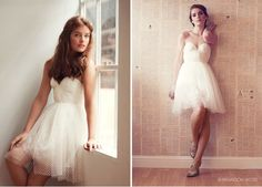 Cute short wedding dress by Sarah Seven