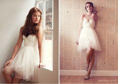 Cute short wedding dress by Sarah Seven