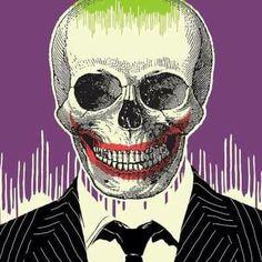 Joker art skull