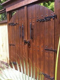 This is My completed door at the entrance of my courtyard thanks to my husband