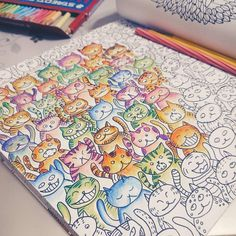 """Friday night activity. #tgif #coloring #cats #cat #mesdemoiselles #meow… Scrapbook Pages, Coloring Books, Activities, Tgif, Night, Instagram Posts, Art Ideas, Relax, Friday"