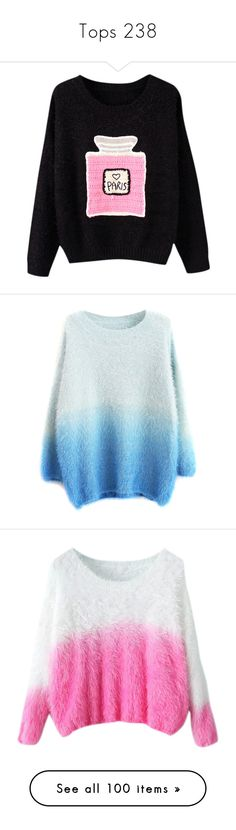 """""""Tops 238"""" by singlemom ❤ liked on Polyvore featuring tops, sweaters, sweater pullover, loose fit tops, loose pullover, pullover top, loose pullover sweater, shirts, jumpers and blue"""