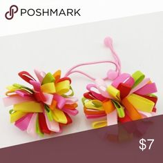 ✳️SALE✳️2 Pink Pom Pom Hair Ties 2 pink Pom Pom hair ties. Price firm unless bundled T&J Designs Accessories Hair Accessories