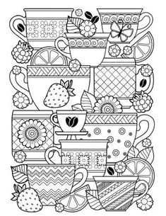 The Paperback of the Blank Book Journal: Coffee Cups Cover Diary Notebook: x 11 size 120 lined pages! by Diary Journal Book, Word on the Playground, Quote Coloring Pages, Adult Coloring Pages, Coloring Sheets, Coloring Books, Colouring, Doodle Coloring, Book Journal, Journal Covers, Bullet Journal