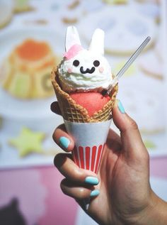 Bunny Ice Cream in a Waffle Cone
