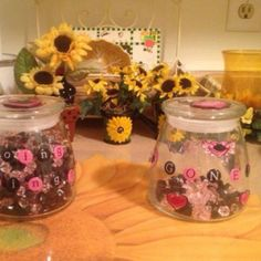 Weight loss jars! Love this for a visual!
