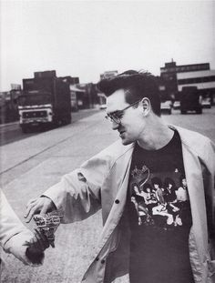 Morrissey in New York Dolls Shirt