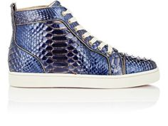 Christian Louboutin Python Louis Flat Sneakers at Barneys New York