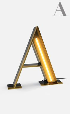 For Type Lovers: Alphabet Lamps That Will Add A Twist To Home Decorating - DesignTAXI.com
