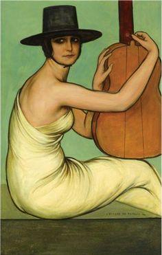 "Julio romero de Torres  ""Dora la cordobesita"" Love this artist....overwhelmed by his museum in Cordoba"
