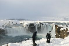 On one of our photography trip in North Iceland, Godafoss waterfall