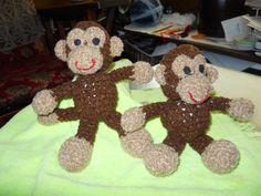 Crocheted Little Bigfoot Monkey stuffed animal by todaysyesterdaze, $13.50