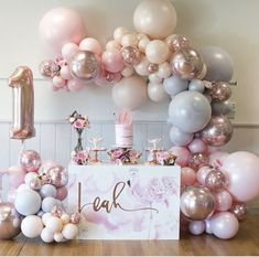 Super ideas for birthday table design party themes Birthday Table Decorations, Birthday Party Desserts, Unicorn Birthday Parties, Unicorn Party, First Birthday Parties, 1st Birthday Balloons, 1st Birthday Party Ideas For Girls, Dessert Table Birthday, Dessert Party