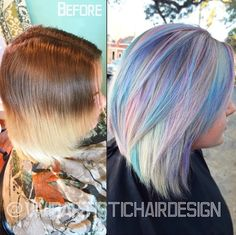 Pastel Hues by Vivid Artistic Hair design using Olaplex! #rainbow #hair #olaplex