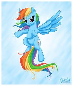 Rainbow Dash Flying 03