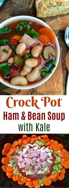 Crock Pot Recipes, Slow Cooker Recipes, Crock Pot Soup Recipe, Ham and Bean Soup. Ham Bone Soup, Ham Soup, Crock Pot Soup, Slow Cooker Recipes, Crockpot Recipes, Soup Recipes, Healthy Recipes, Healthy Soups, Freezer Recipes