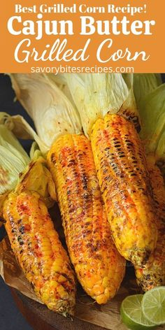 cajun and creole recipes Spicy and Buttery Cajun spiced grilled street corn. Corn Recipes, Fun Easy Recipes, Easy Meals, Dinner Recipes, Thai Recipes, Recipies, Grill Corn In Husk, Bbq Corn On The Cob, Grilled Corn On Cob