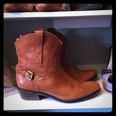 "Selling this ""Franco Sarto leather western style booties"" in my Poshmark closet! My username is: janadenae. #shopmycloset #poshmark #fashion #shopping #style #forsale #Franco Sarto #Boots"