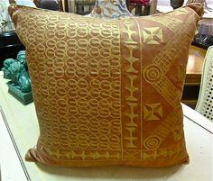 Jones and Cole: New Fortuny Pillow--c. 1970's Ashanti pattern