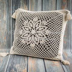 Lotus Pillow Cover crochet pattern