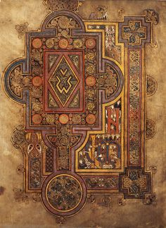 Lindisfarne Gospels is an illuminated Latin manuscript of the gospels in the British Library. The manuscript was produced on Lindisfarne in Northumbria in the late 7th century or early 8th century.