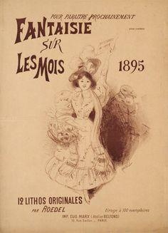Fantaisie sur le mois 1895, 12 lithos originales ROEDEL  (1895)