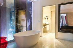 Habitación y baño de #cine en el #hotel Vincci Capitol 4* #Madrid.