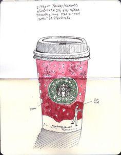 urban still life of Starbucks latte by Gabriel Campanario.