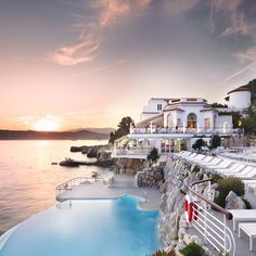 Hotel du Cap-Eden-Roc near Antibes, France. We got this close but would one day like to be an overnight guest of this amazing hotel. This is the hotel at the beginning of the movie Killers with Ashton Kucher and Kathryn Heigl.