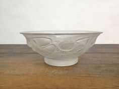Charming Molded Glass Bowl with Flowers by ParisVintageGalerie