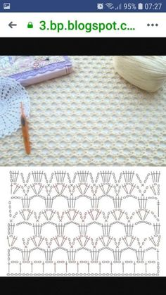 Most up-to-date Totally Free Crochet shawl edging Suggestions Schönes Muster Crochet Shawl Diagram, Crochet Lace Edging, Crochet Motifs, Crochet Chart, Filet Crochet, Knit Crochet, Crochet Flower, Crotchet Stitches, Crochet Stitches Patterns