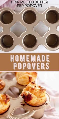 Muffin Tin Recipes, Easy Baking Recipes, Easy Muffin Recipe, Fall Recipes, Sweet Recipes, Muffin Tin Breakfast, Popover Recipe, Homemade Muffins, Love Food