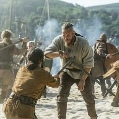 The HISTORY original series Vikings transports us to the brutal and mysterious world of Ragnar Lothbrok, a Viking warrior and farmer who yearns to explore--and raid--the distant shores across the ocean. Ragnar Lothbrook, King Ragnar Lothbrok, Vikings Tv Series, Vikings Tv Show, Bracelet Viking, Viking Jewelry, Lagertha, Viking Warrior, Viking Age