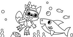 Baby Shark Pictures To Color Pinkfong And Baby Shark Coloring Sheet Printable Theme Baby Shark Coloring Pages Super Simple Baby Shark Outline Use The Printable Outline For Crafts Baby Shark Coloring Pages, Baby Coloring Pages, Birthday Coloring Pages, Halloween Coloring Pages, Printable Coloring Pages, Free Coloring, Coloring Sheets, Coloring Books, Baby Shark Kids Song