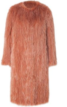 Sonia Rykiel Fox Fur Coat in Vieux Rose