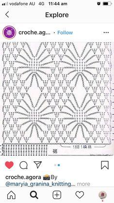 Border Pattern, Lace Border, Crochet Shawl, Crochet Lace, Iris, Knitting, Tricot, Crochet Trim, Breien