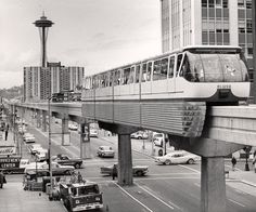 "For fifty years, the Seattle Center Monorail has been shuttling back and forth between Seattle Center and Westlake Center. Festivities were held today to commemorate the one-mile long transit line that was called the ""highway of the future."" Read more..."