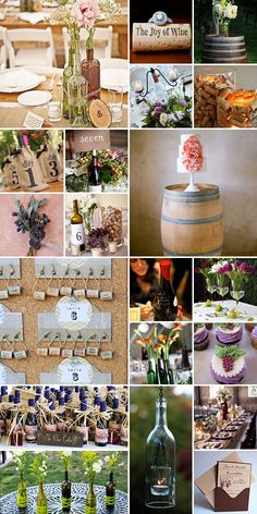 Wine Wedding Theme: what better way to avoid cold feet on the big day, than with a full-on wine themed celebration? Wedding Themes, Wedding Blog, Dream Wedding, Wedding Decorations, Wedding Day, Themed Weddings, Wedding Wine Bottles, Wedding Flowers, Wedding Pastel