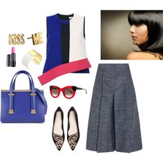 brunettes electrifying blue, polyvore.com by silvanacasalins81