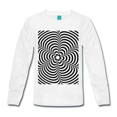 Tee shirt manches longues Optical illusion (Impossible) Black & White OP-Art #cloth #cute #kids# #funny #hipster #nerd #geek #awesome #gift #shop