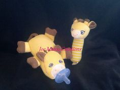 Giraffe Pacifier Baby with rattle by JoeMamaCreations on Etsy, $10.00