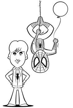 Spider-man special illustration for a birthday present. (2018)