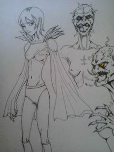 Quimera/ Harpya. Estudo de personagem.