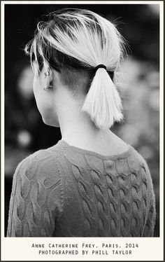 Undercut with bleached hair. Necks, Anne-Catherine Frey, Paris, 2014