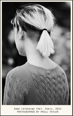Undercut with bleached hair. Necks, Anne-Catherine Frey, Paris, 2014