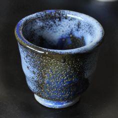 """Esmalte de Sake única carcomido """"mar verde"""" y azul"""